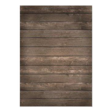Small Rustic Wood Tie The Knot Wedding Invitations Back View
