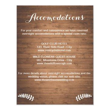rustic woodgrain enclosure  wedding invitation