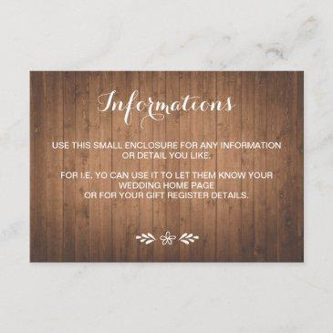rustic woodgrain forest wedding small enclosure