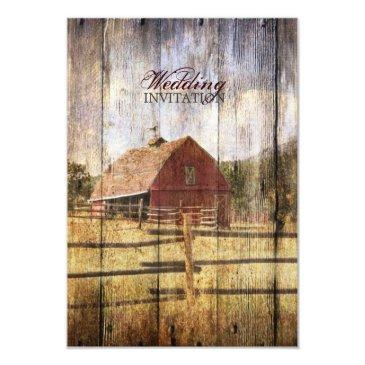 rustic woodgrain western red barn country