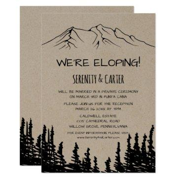 rustic woodsy mountain elopement reception