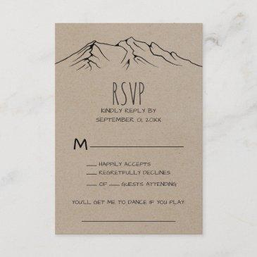 rustic woodsy mountain song request rsvp