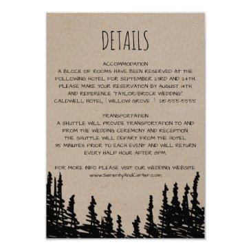 rustic woodsy mountain wedding details
