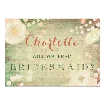 Small Shabby Chic Florals | Will You Be My Bridesmaid Front View