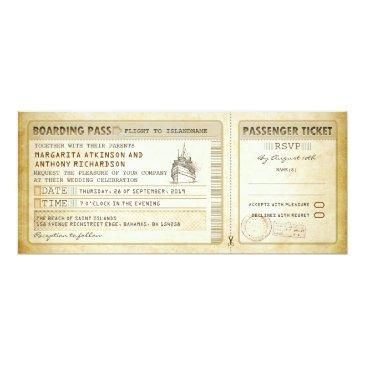 ship boarding pass wedding tickets-invites & rsvp