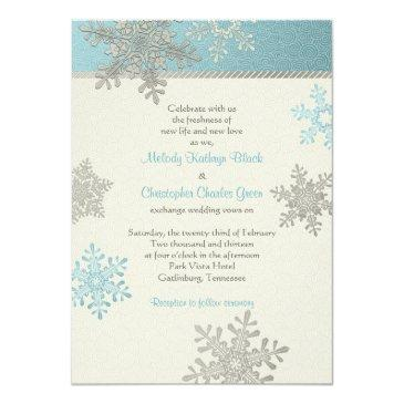 silver blue snowflake winter wedding
