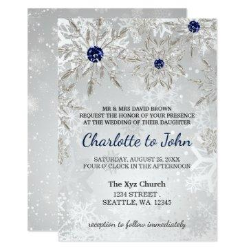 silver navy snowflakes winter