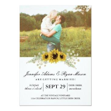 Small Simple Photo Wedding Sunflowers Front View