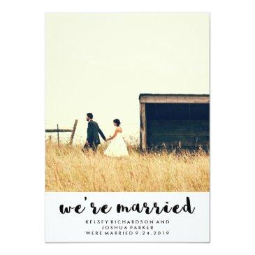 simple post wedding announcement and celebration