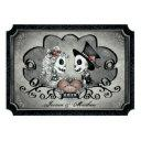 "skeletons gray black heart wedding ""together with"" invitations"
