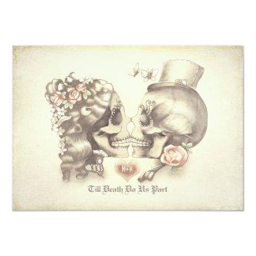 skull couple day of the dead wedding