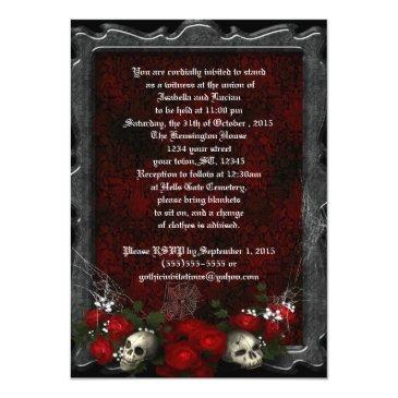 skulls and roses goth wedding