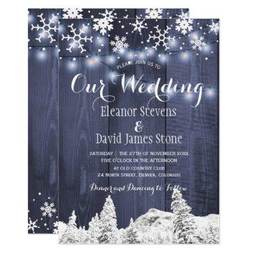 snowflakes barn wood winter wonderland wedding