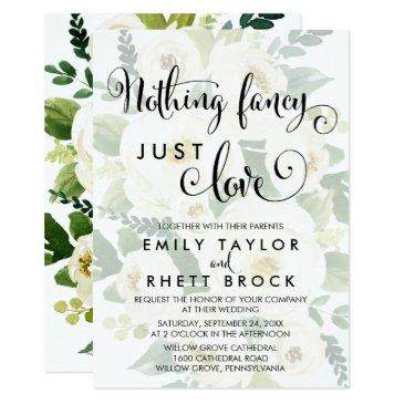 southern | faded floral nothing fancy just love invitation