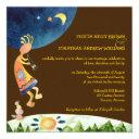 southwestern kokopelli brown tribal wedding invitations