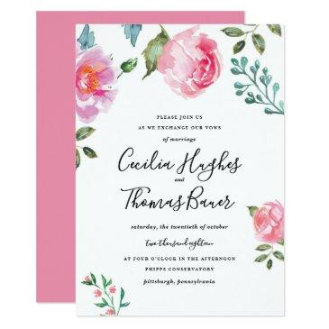 spring peony floral wedding