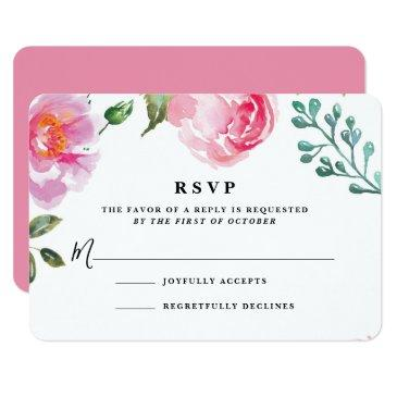 spring peony floral wedding reply