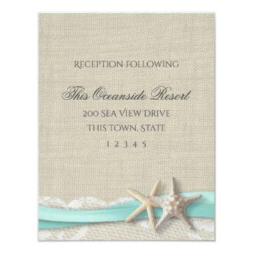 starfish and lace rustic beach response