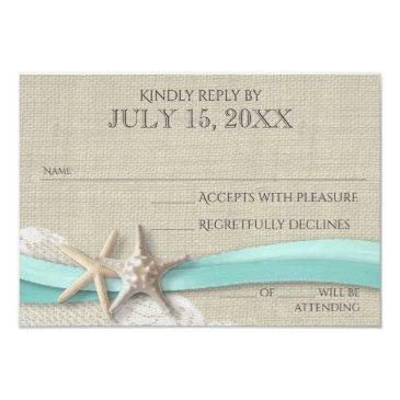 starfish and lace rustic response