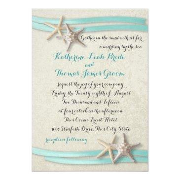 starfish and ribbon beach aqua