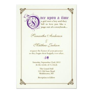 storybook fairytale wedding  - purple