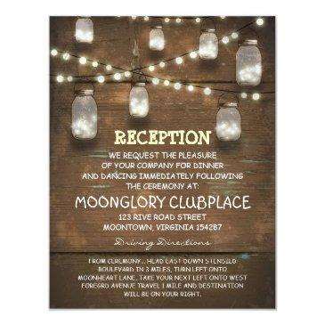 string lights and mason jars wedding reception