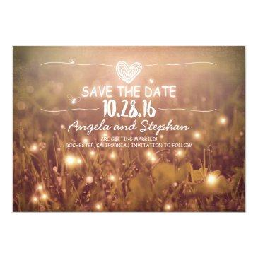 string of lights blush rustic save the date