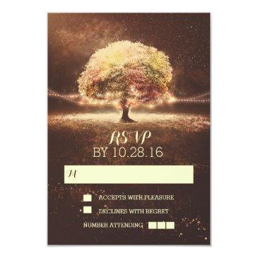 string of lights tree wedding rsvp