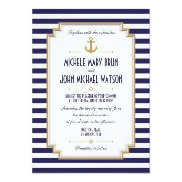 stylish nautical wedding