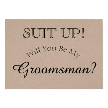 suit up - will you be my groomsman rustic