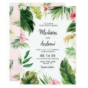 summer tropical leaves wedding