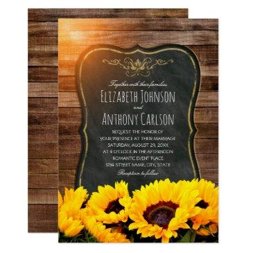 sunflower fall wedding rustic chalkboard
