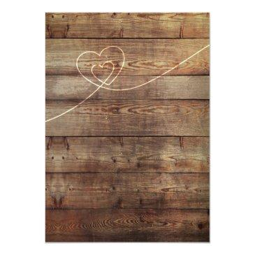 Small Sunflower & Roses Rustic Wood Lights Invitation Back View