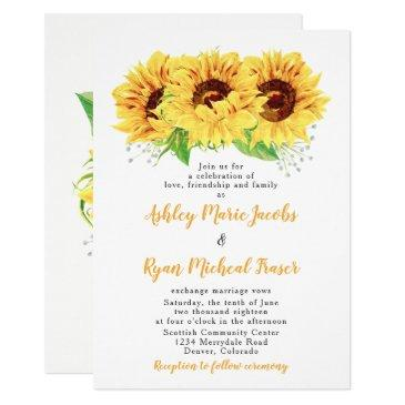 sunflower wedding  watercolor floral
