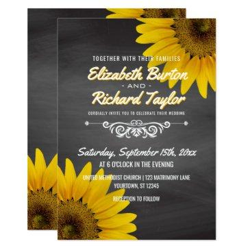 sunflowers chalkboard rustic country wedding