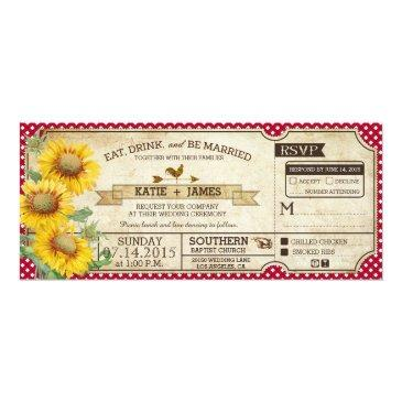 sunflowers gingham check country picnic wedding