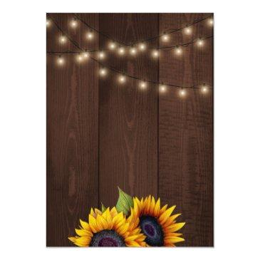 Small Sunflowers String Lights Fall Trendy Wedding Back View