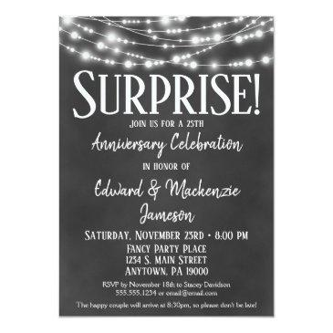 surprise anniversary party invitations chalkboard