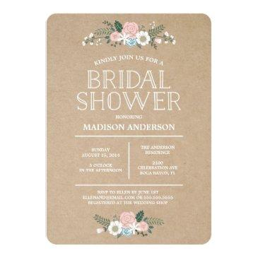 Small Sweet Floral | Bridal Shower Invitations Front View