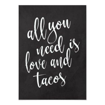 taco bar affordable chalkboard wedding sign