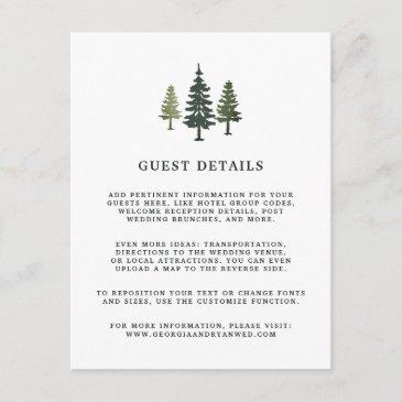 tall pines wedding guest details