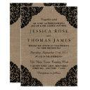 the black lace on rustic burlap wedding collection