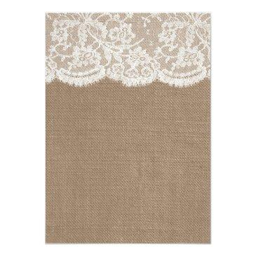 Small The Burlap & Lace Wedding Collection Invitationss Back View
