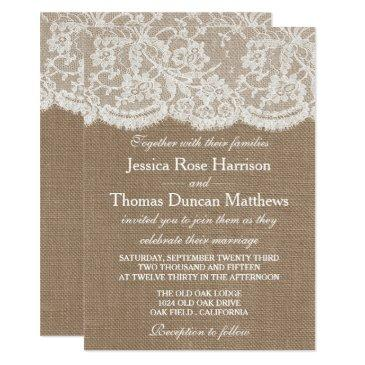 the burlap & lace wedding collection