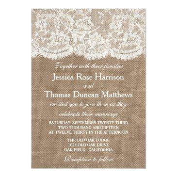 Small The Burlap & Lace Wedding Collection Front View