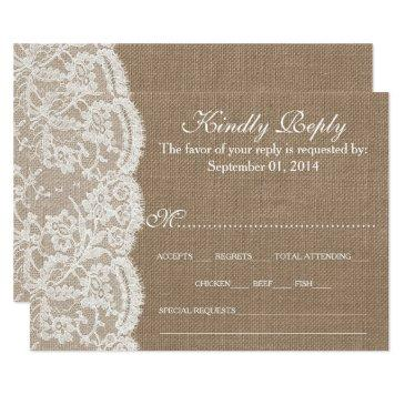 the burlap & lace wedding collection rsvp