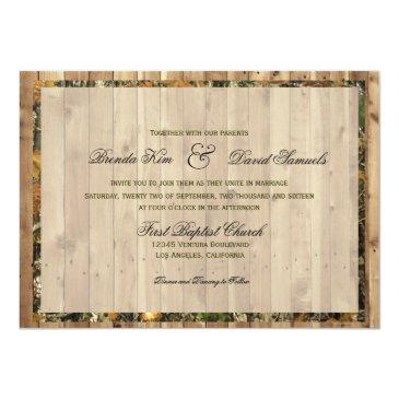 Small The Hunt Is Over Camo Wedding Invitations Back View