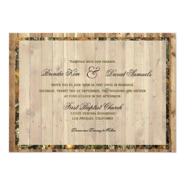 Small The Hunt Is Over Camo Wedding Invitation Back View