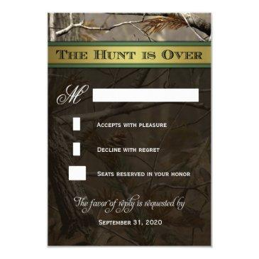 the hunt is over hunting camo wedding rsvp