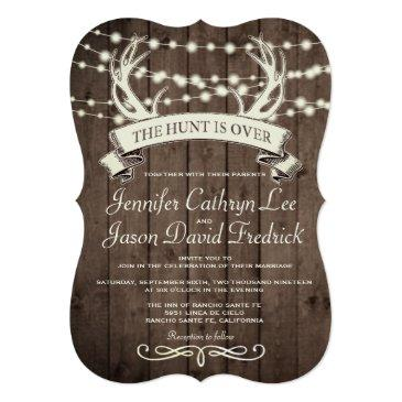 """the hunt is over"" rustic barn evening wedding"